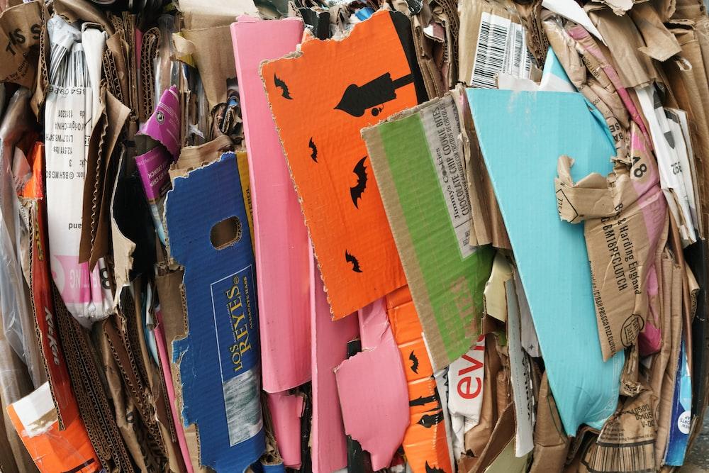 assorted-color cardboard box lot