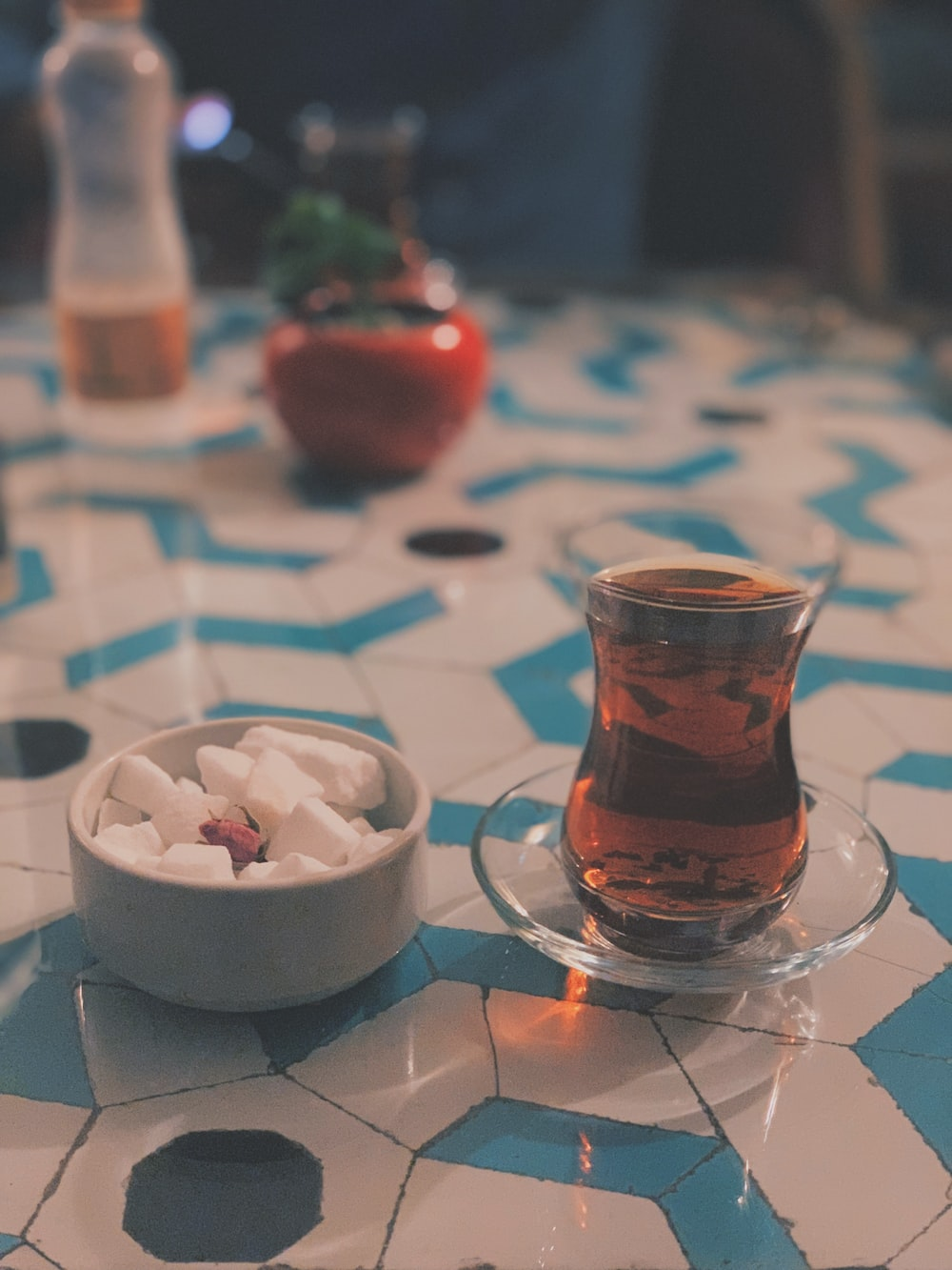 clear turkish tea glass