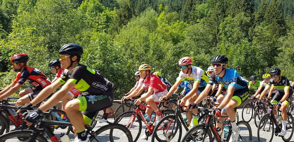 men racing bike