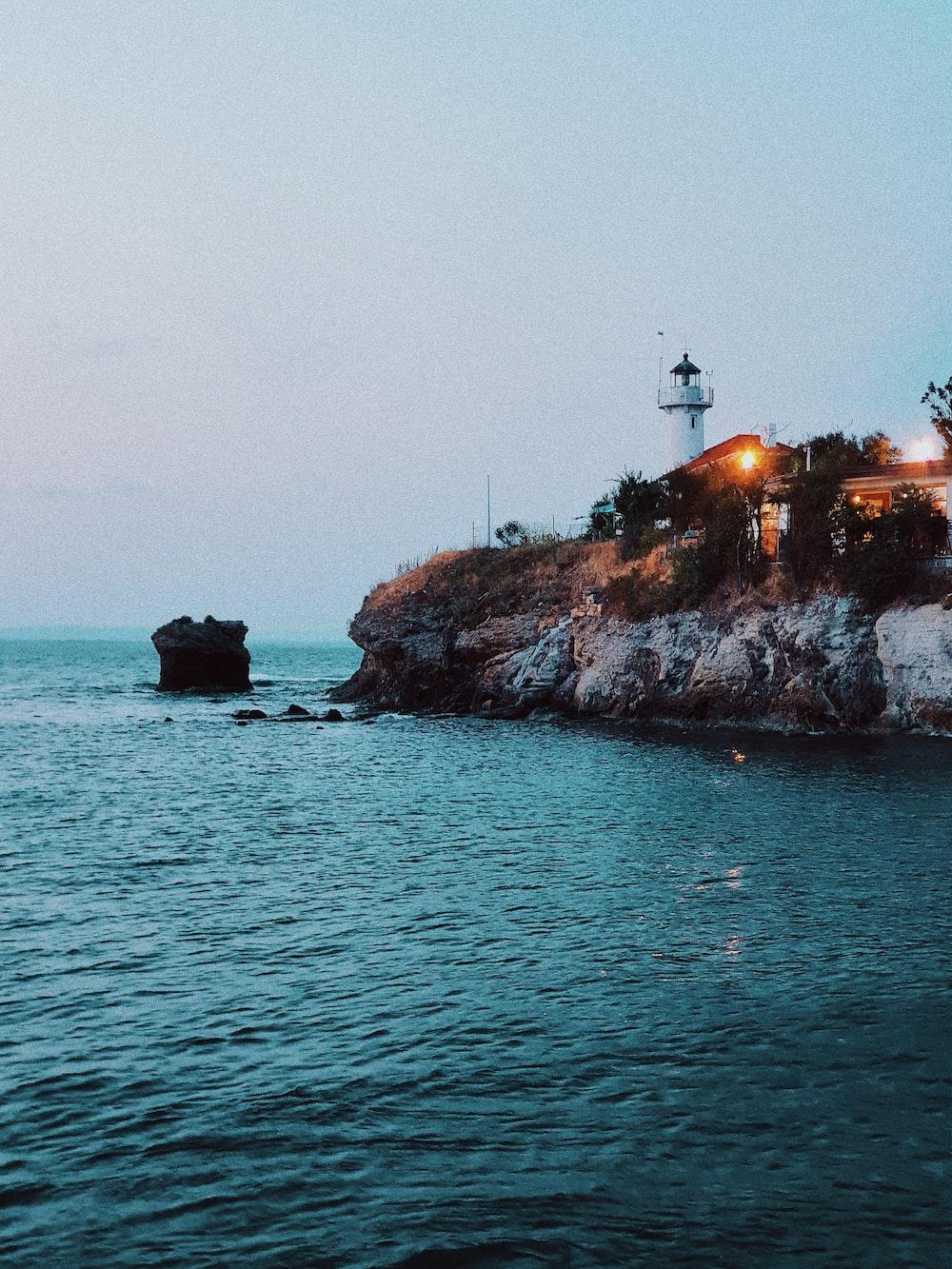 lighthouse near ocean