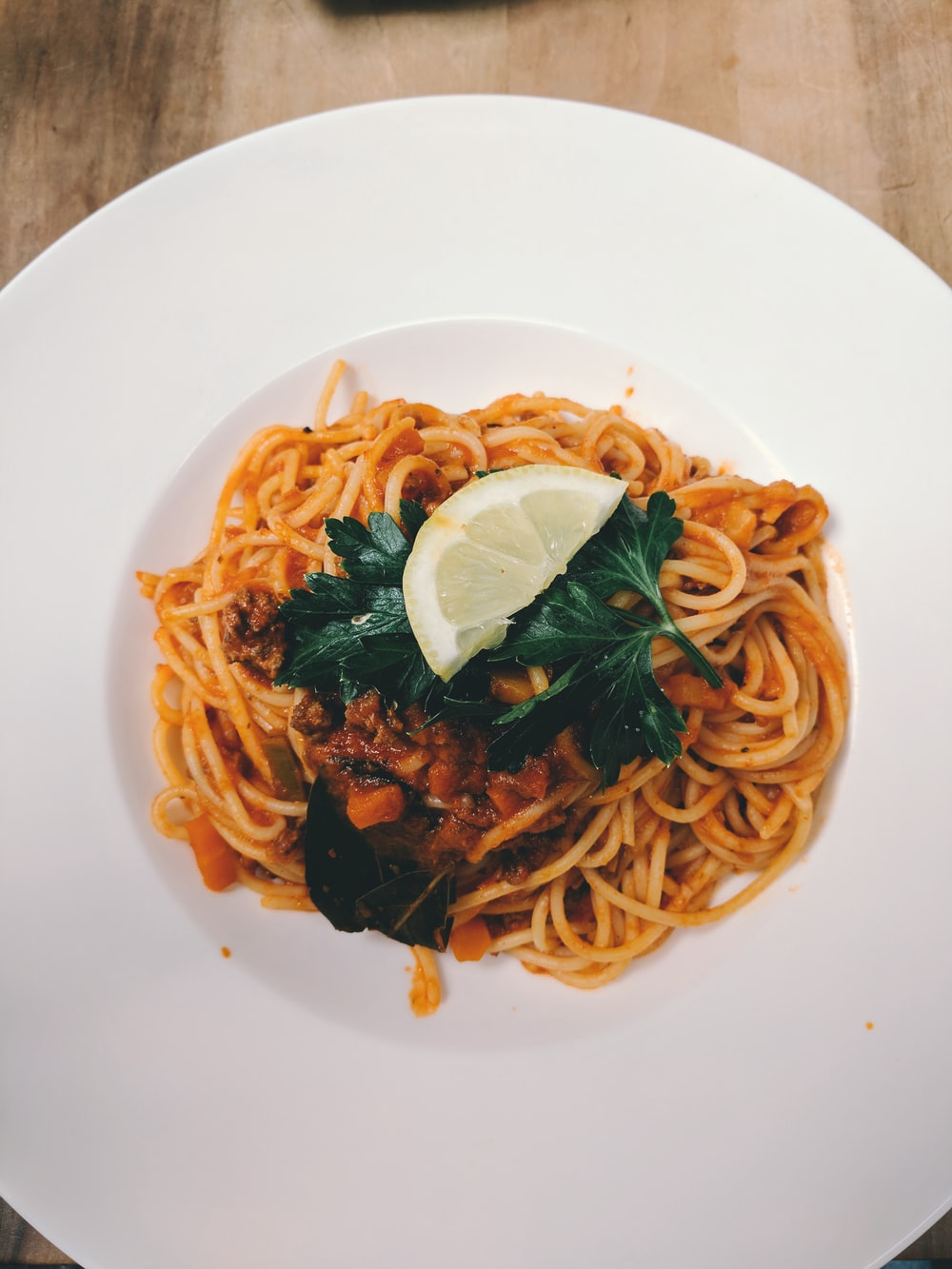 cooked pasta in plate