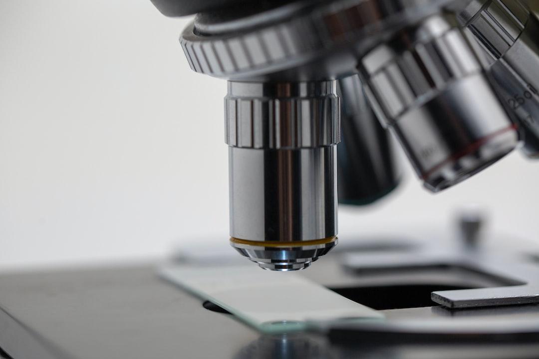 Closeup of microscope