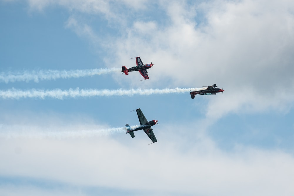 three plane on flight