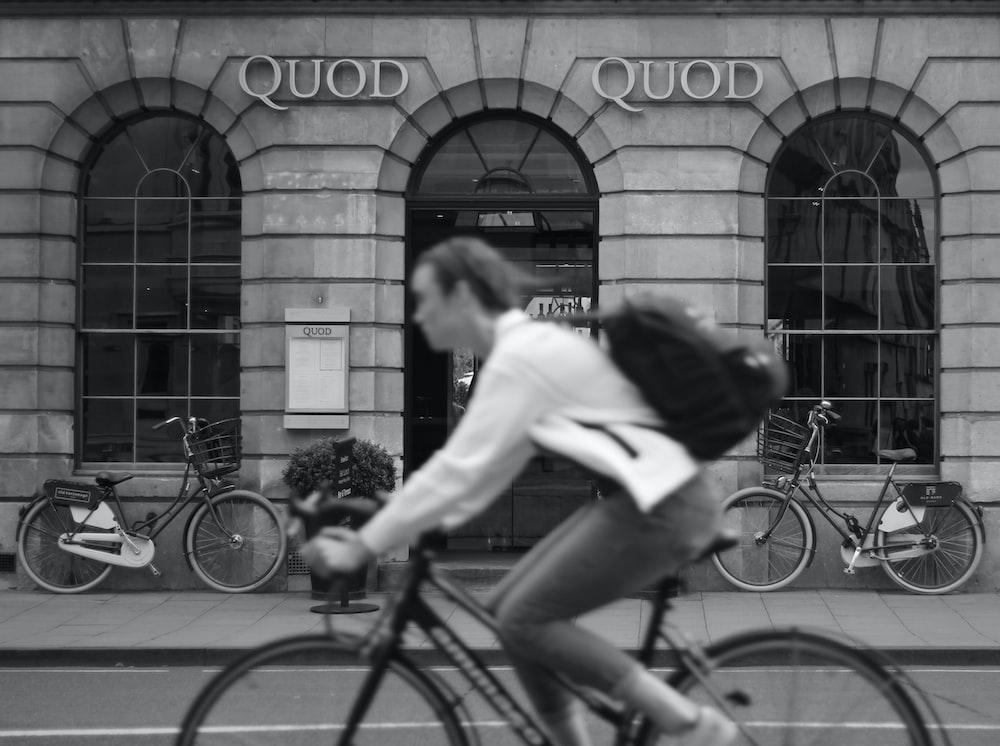 woman riding on bike