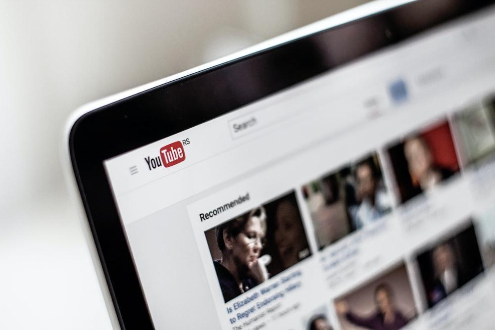 Die Startseite der YouTube-App.