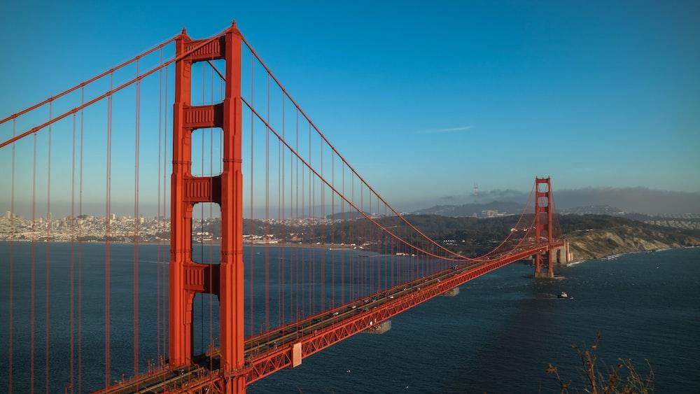 red concrete bridge