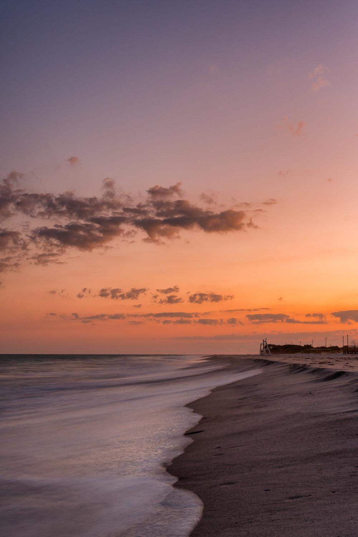 sunset seashore scenery