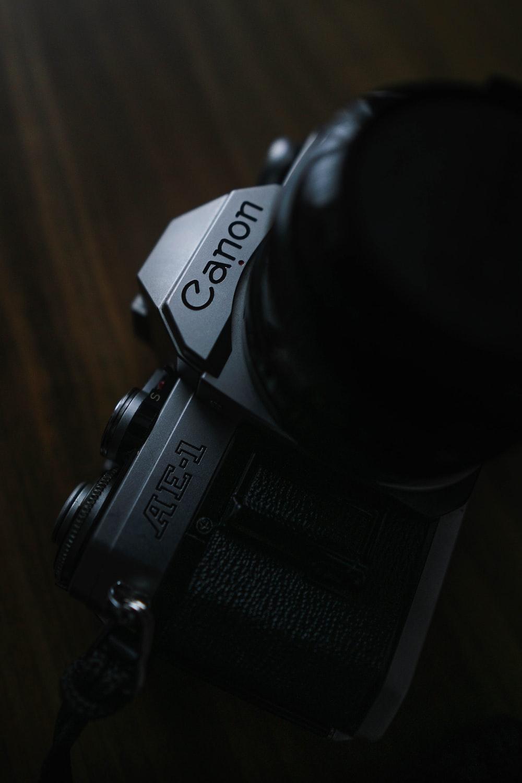 gray Canon AE-1 camera