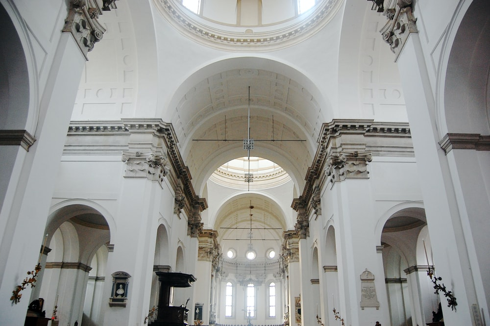 white church interior