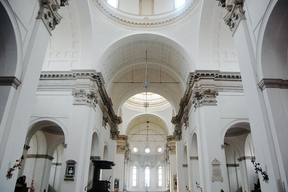 white church interior