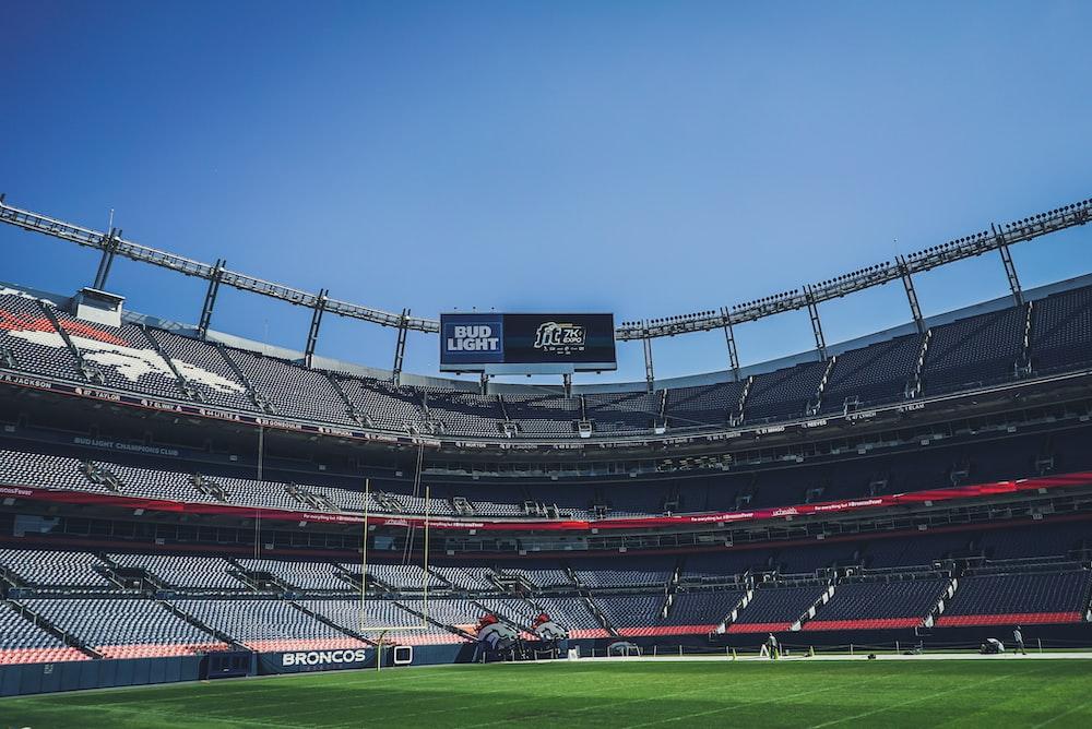stadium under blue sky