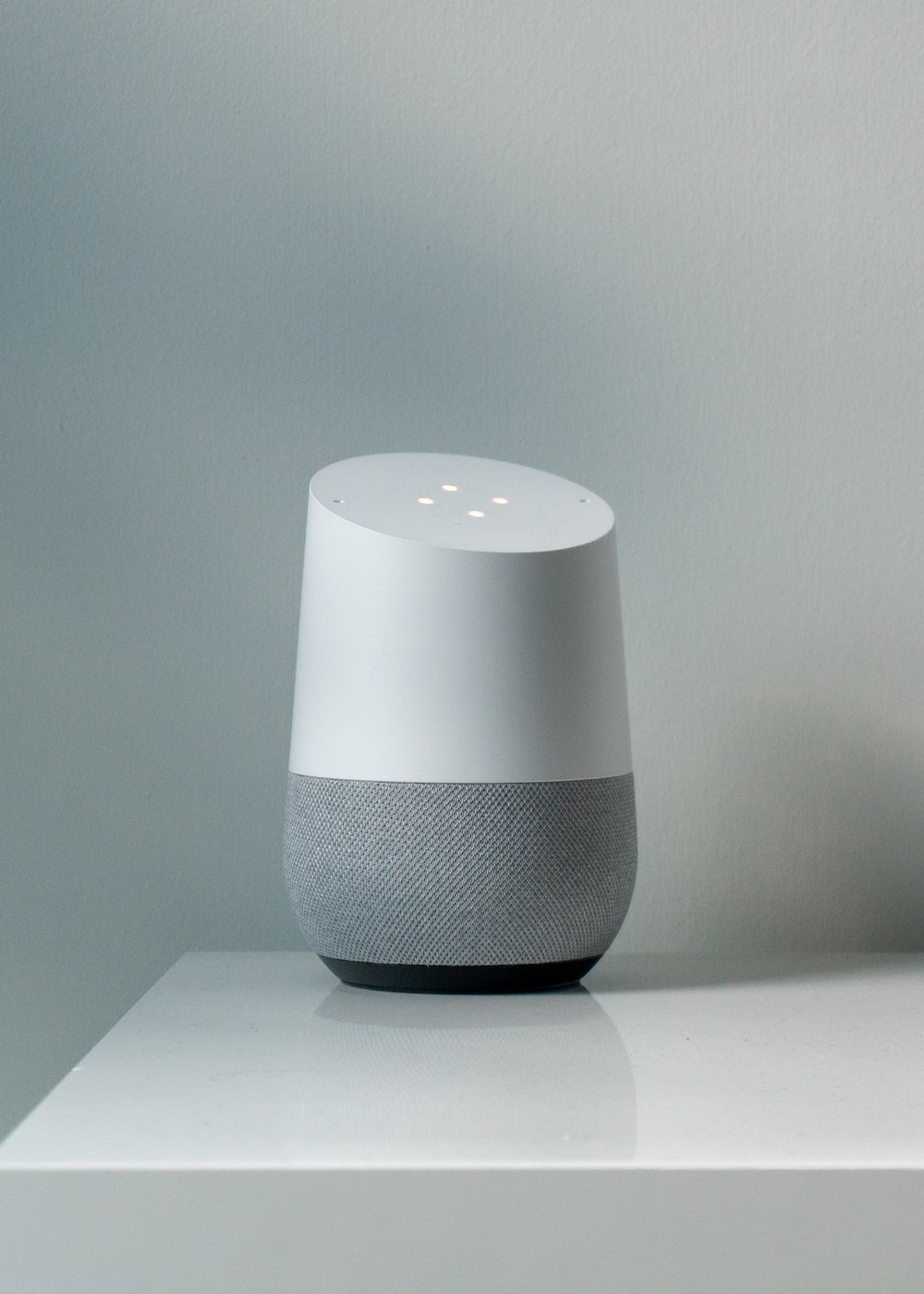 white portable speaker