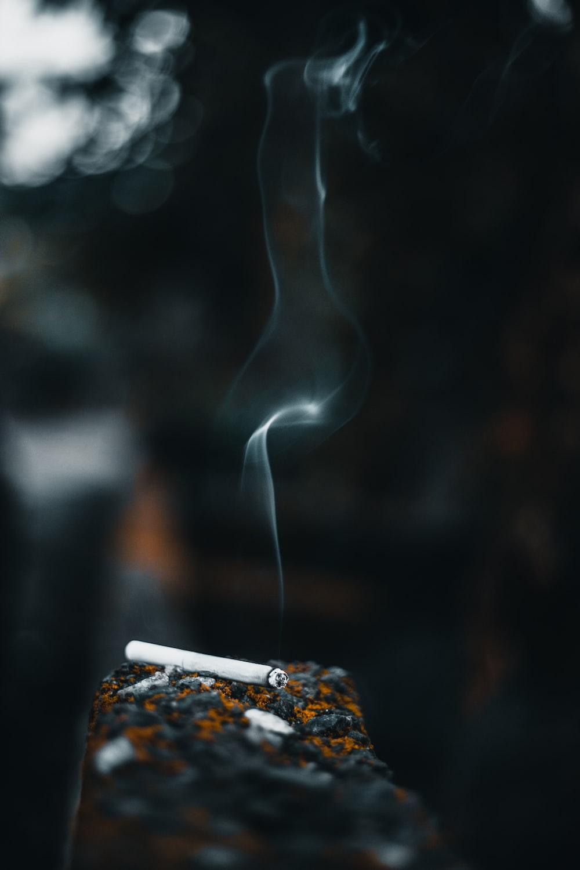 cigarette stick on wall
