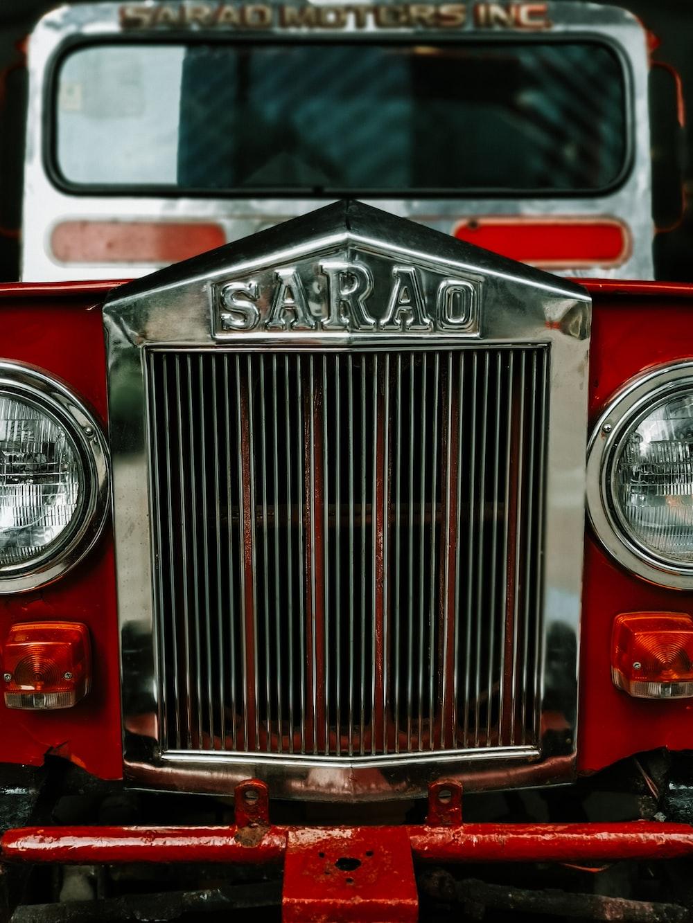 red Sarao vehicle