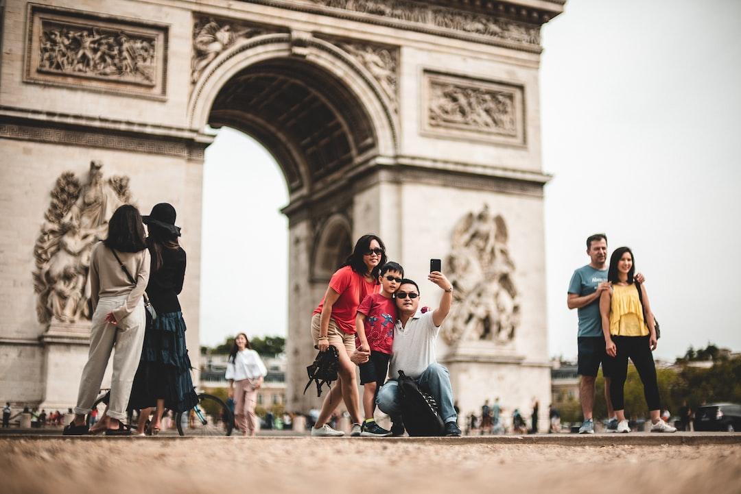 Just some Tourists taking a selfie in frot of the Arc de Triomphe de l'Étoile :)  Paris Picdump #2