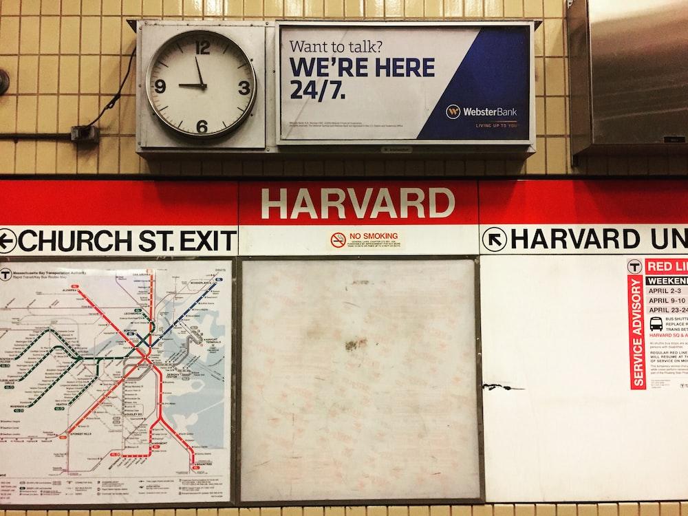 Harvard signage