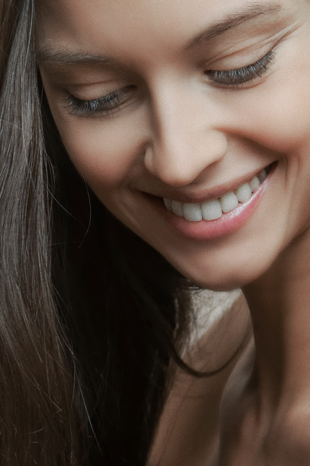 woman smiling face
