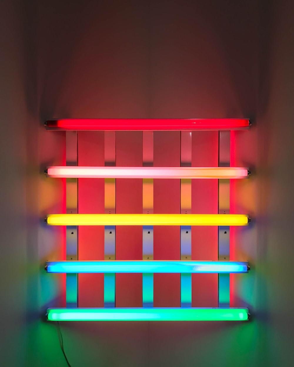 assorted-color fluorescent lights