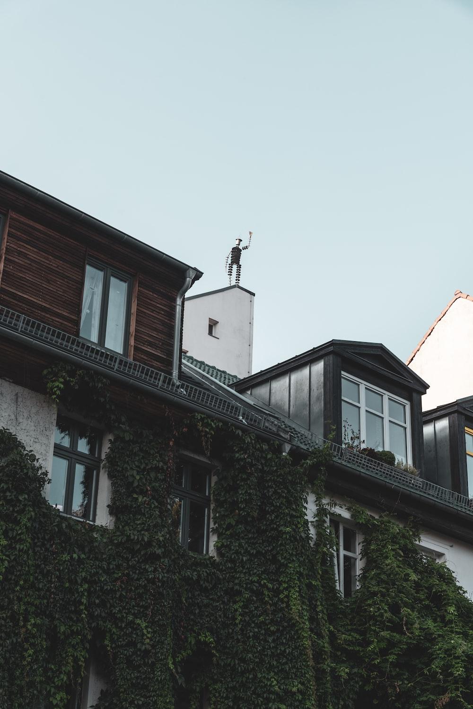 low angle photo of concrete house