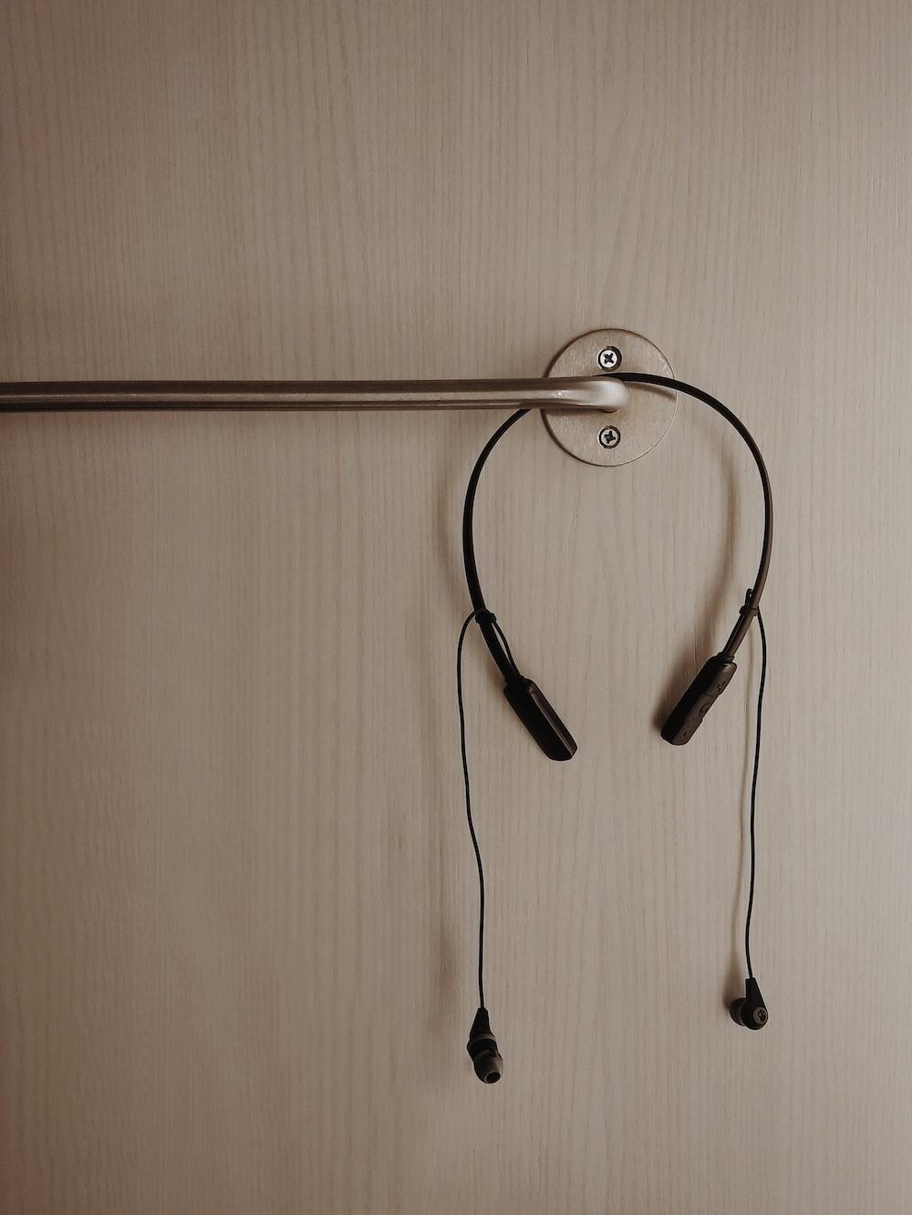 black Bluetooth headset