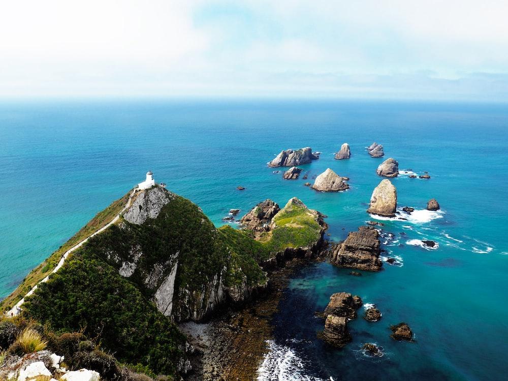 island near ocean