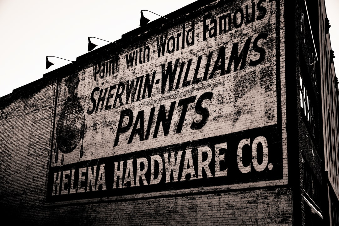 Old Sherwin Paint sign