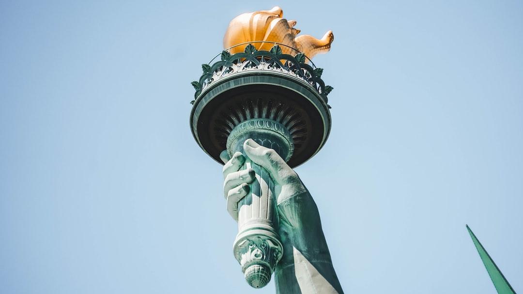 The beautiful Statue of Liberty.
