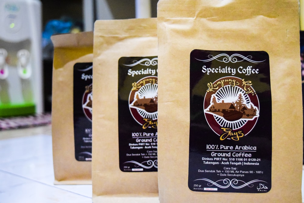 three Specialty Coffee packs