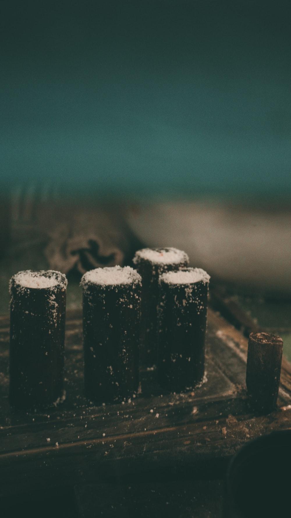 black wooden decor at night