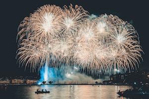 fireworks display at nighttime