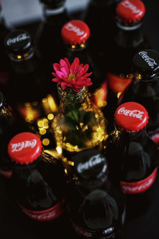 Coca-Cola soda bottles
