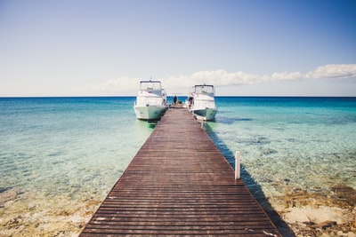 yachts near dock