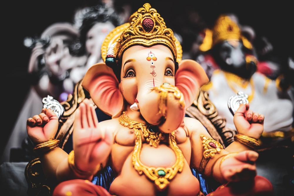 Ganesha Hindu Deity figurine