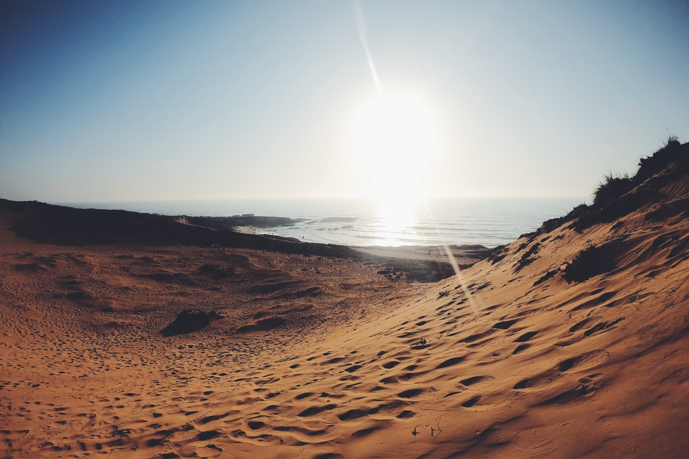 desert under blue sky