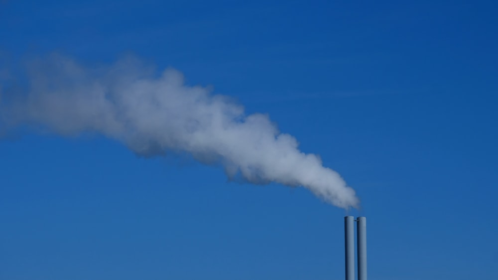 factory chimney emitting smoke
