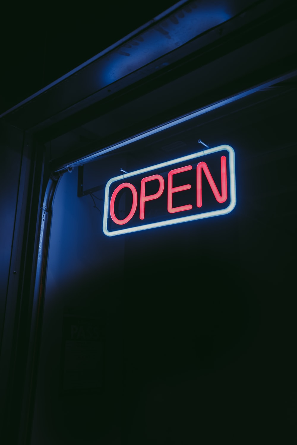 lighted open signage