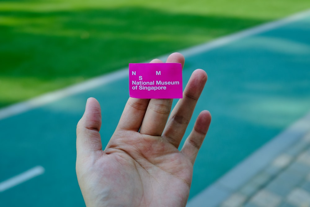 pink card on hand