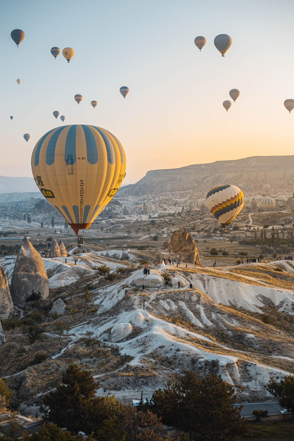 aerial-photography of hot air baloons