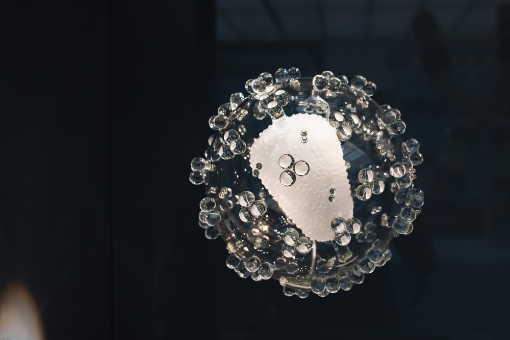 round clear glass decor
