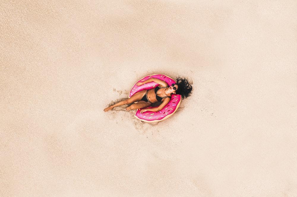 woman on water pool