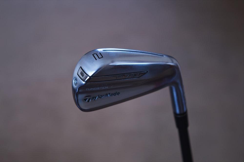 black and gray golf club