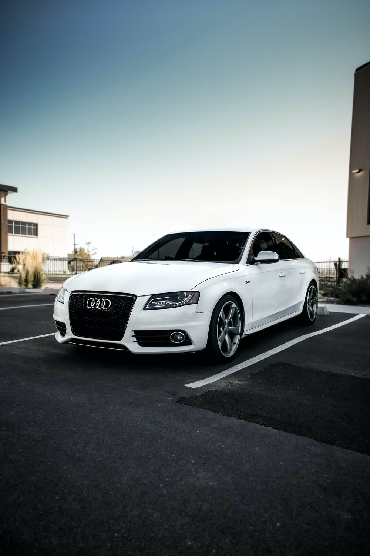 white Audi sedan