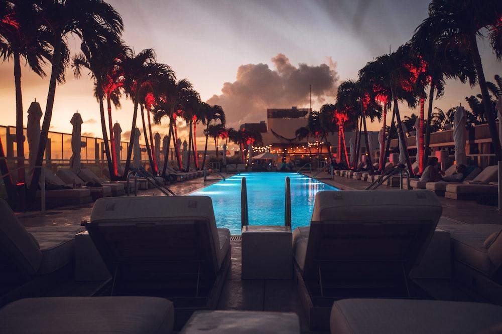 seats beside pool