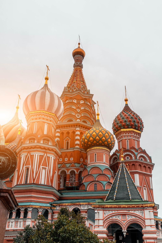 multicolored dome castle