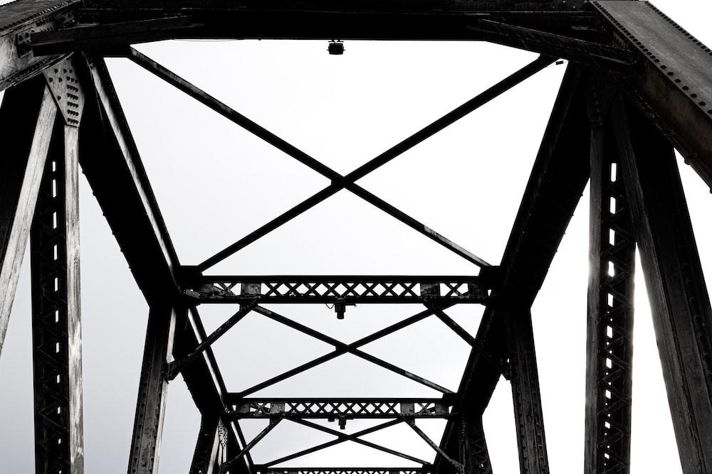 black and gray metal frame