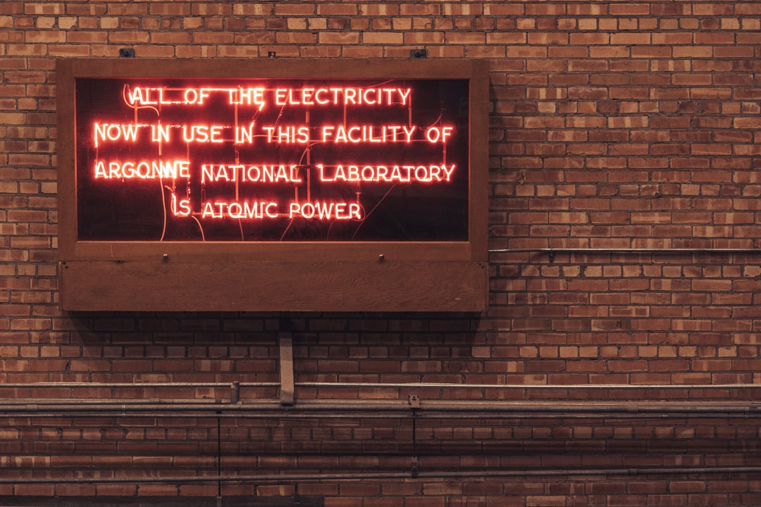A sign hanging on the wall of the first nuclear power plant ever built in the middle of nowhere in Idaho. This plant, now a museum, was a delightful and unexpected find.