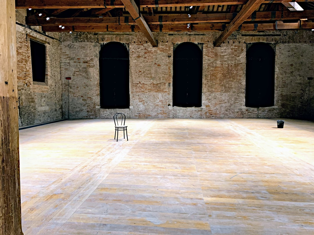 Empty room in Arsenale, Venice (Italy)