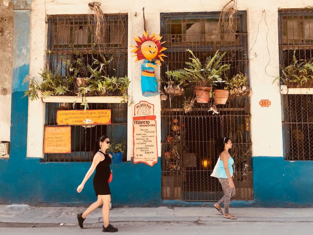 Havana, Cuba, Walking, People, Street
