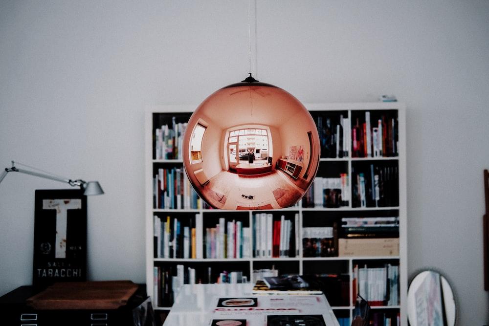 amber glass pendant lamp