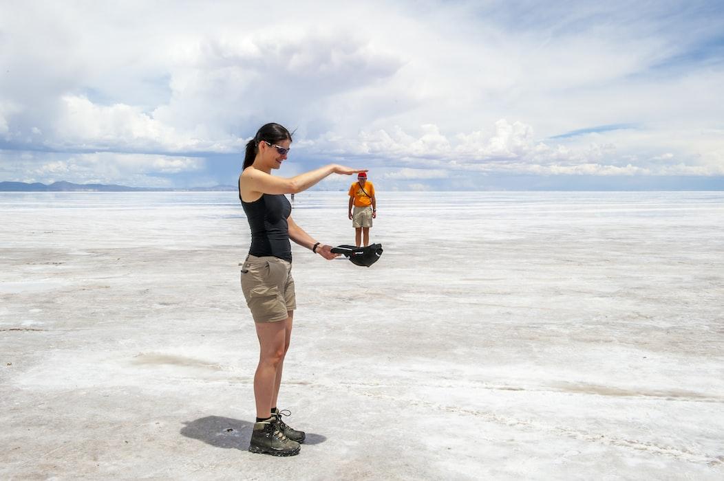 Salt river in Bolivia